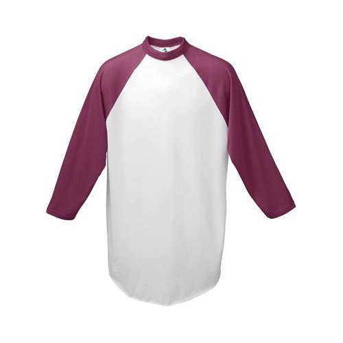 Augusta Drop Ship Youth Baseball Jersey - WHITE/MAROON - S
