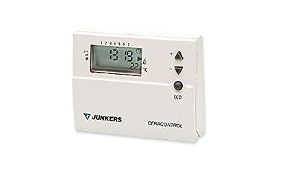 Junkers REGULACION Y CONTROL - Termostato programacion digital semanal 220v trz12-2