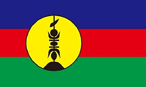 New Caledonia Flag 5ft x 3ft Large - 100% Polyester - Metal Eyelets - Double Stitched - New Flag Caledonia