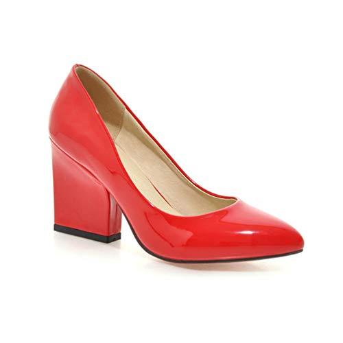 Chaussures Mode Grande Haut de de la de Taille épaisses Chaussures Rouge Talons Femmes Chaussures Pompes Party Mariage Talons x6zgWI