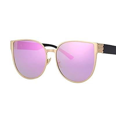 LXKMTYJ L'Œil de chat sépia Lunettes de métal est coloré et élégant, le reflet des lunettes noires, rose carmin