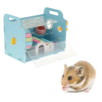 FidgetKute Acrylic Hamster Cage Guinea Pig Chinchilla Ferret House Small Funny Mice Toy Show One Size by FidgetKute