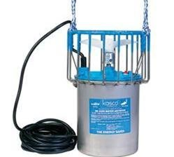 Kasco Marine 2400D025 - De-Icer, 1/2hp, 120 volts, Clears A Circle Up To 50' Diameter, 25' Cord