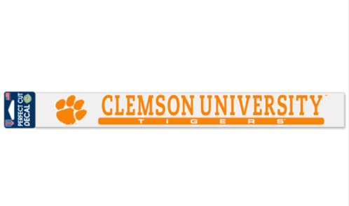 NCAA Clemson University Tigers Official 2''x17'' Color Perfect Cut Decal by WinCraft