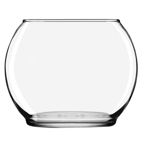 Libbey Footed Bubble Ball, 3.9-Inch Tall by 4.90-Inch in Diameter, Clear, Set of 12 (Set Of Vases For Centerpieces)