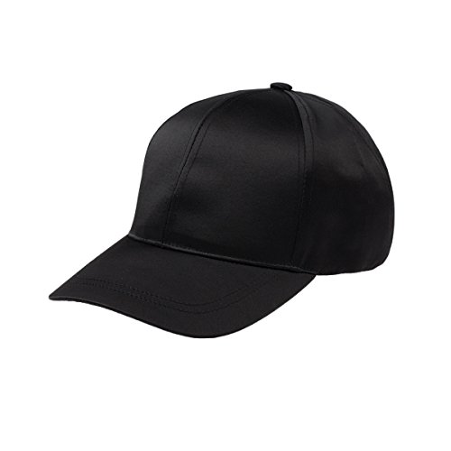 JOOWEN Unisex Cotton Cap Polyester Smooth Surface Adjustable Plain Hat - Unstructured (black)