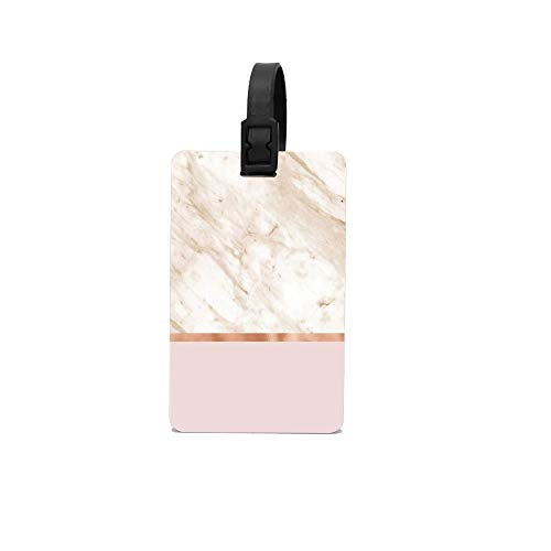 Lovwepilo Caramel Marble On Rose Gold Blush Custom Luggage Tag Personalized Luggage Tag Perfect Gift for Boss Professional Gift for Coworker