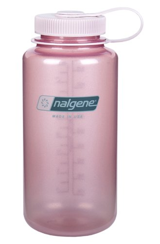 Nalgene Wide Mouth Water Bottle, 1-Quart, Fire Pink