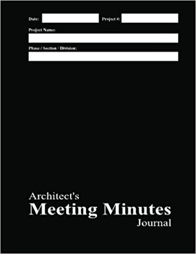 buy architect s meeting minutes journal black cover book online at