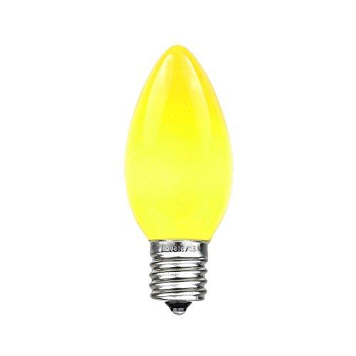 Novelty Lights 25 Pack C9 Ceramic Outdoor String Light Christmas Replacement Bulbs, Yellow, E17/C9 Base, 7 Watt