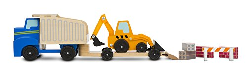 Melissa & Doug Dump Truck & Loader Wooden Play ()