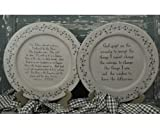 Decorative Wooden Lord's Prayer with Ivy Berry Border 13'' Plate