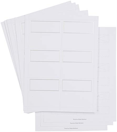 Simplicity White Wedding Place Cards with Silver Trim, 60pc, 3.75'' L x 1.75'' W x 1'' H