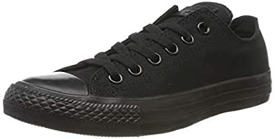Converse Unisex-Adult's All Star Ox Mono Black Shoes - UK 4