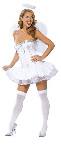 Roma Costume 3 Piece Heaven Sent Costume, White, Small/Medium -