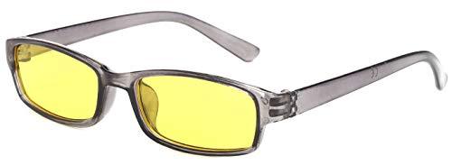 lunettes écaille Slim lentilles driving de protection soleil nuit Correction entièrement unisex soleil füllend Grey jaune 4sold lunettes model de vqnHwvdO