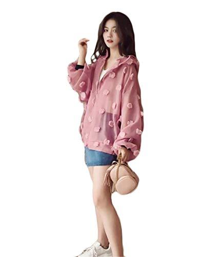여성 래쉬가드 파커 가디건 긴팔 UV 컷 짚업 후드 얇은 투명 함 경량 춘추 여름 유행 비치 캐주얼