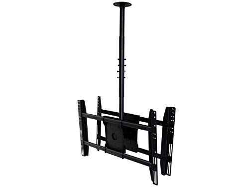Monoprice Ceiling Bracket for Wall Mounts (Max 125lbs, 32~52inch) - Black