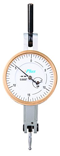 Amazon Exclusive 1-1/5'' Dial Test Indicator, 0.0005'' Graduation Interval, 0.060'' Maximum Measuring Range, 1.5'' Diameter, Range .060'', .0005'' Graduation, Copper Alloy, White by Gold Plus