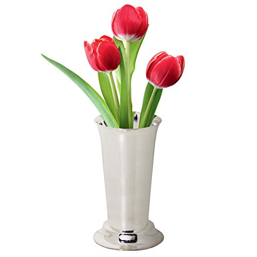 Amazon Plain Silver Plated Flower Vase 45 Inches High Home