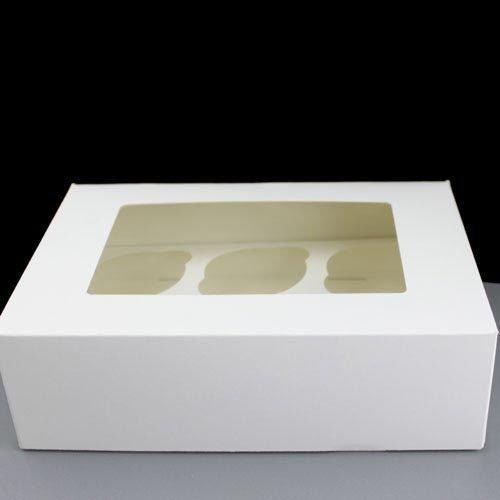 H f/ür Happy Home/ /verglaste Fairy Cupcake Boxes mit 6/Vertiefungen L/öcher 25/St/ück