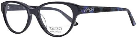 Kenzo frame KZ2219 01 Acetate Shiny BlackBlue print