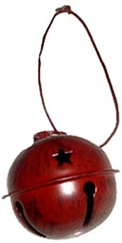 Craft-Outlet-Tin-Bell-Ornament-17-Inch-Barn-Red-Set-of-6