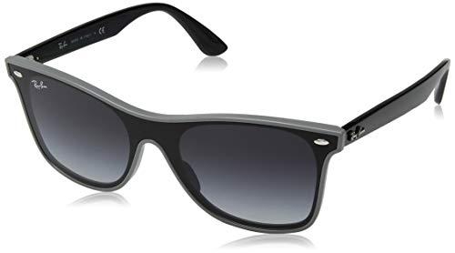 Ray-Ban RB4440N Blaze Wayfarer Sunglasses, Grey Demishiny/Grey Gradient, 41 ()