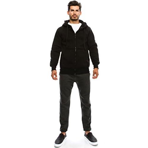 35473e09863 JC DISTRO Mens Hipster Hip Hop Basic Unisex Zip-Up Hoodie Jacket (Size upto