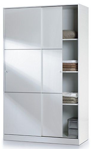 save off cadca f2803 SERENA 120cm Wide 200cm Tall Extra Large White 2 Door Sliding Wardrobe