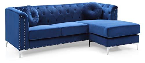 Glory Furniture Pompano G781B-SC Sofa Sectional, Navy Blue. Living Room Furniture, 31