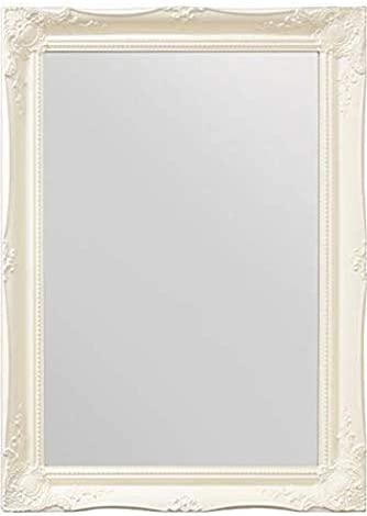 Amazon Com Mirror 3ft X 2ft2 91cm X 66cm Large White Ornate Antique Design Big Wall Bargain Home Kitchen