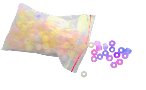 TM 1000pcs UV Beads Color Changing Plastic UV Reactive Beads for Jewelry Making TSLIKANDO