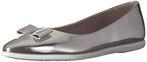 Cole Haan Women's Zerogrand Bow Skimmer Ballet Flat, ch Argento Metallic Leather, 10.5 B US]()