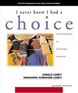 Amazon i never knew i had a choice explorations in personal by gerald corey marianne schneider corey i never knew i had a choice fandeluxe Images