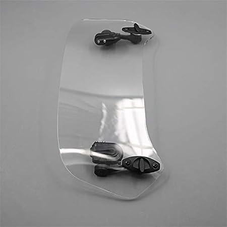 Parabrisas de motocicleta Parabrisas De Motocicleta Alerón, Motocicleta Transparente Resucitado Ajustable Viento Pantalla Parabrisas Alerón Deflector De Aire En Forma Fit For BMW F800 R 1200 GS KAWASA