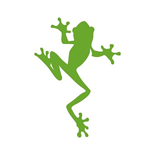 Climbing Frog Amphibian Biology - Vinyl Decal for Outdoor Use on Cars, ATV, Boats, Windows and More - Lime Green 4 inch