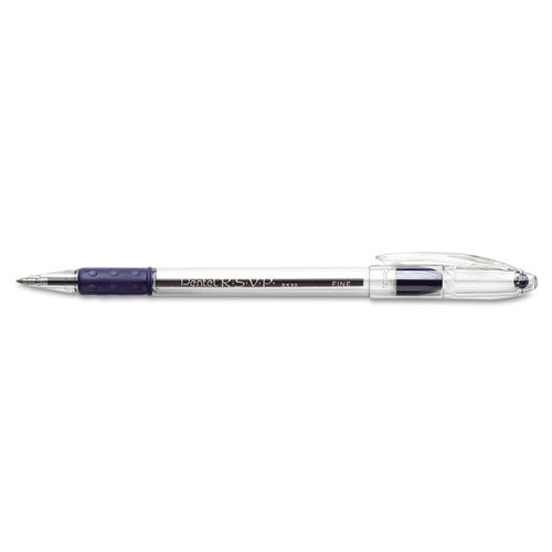 Pentel (BK90-C) RSVP Ball-Point, Fine Blue, Dozen (Fine Point Rsvp Pentel)