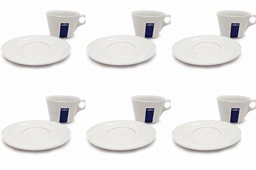 Holland Plastics Original Brand 6 X 8 oz Americano Cups and Saucers