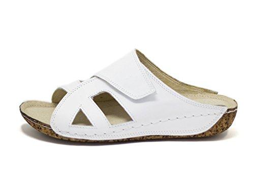 D'été Pour 400 Blanc Chaussures Ks® Femmes Sandales Cuir wqpSqftx