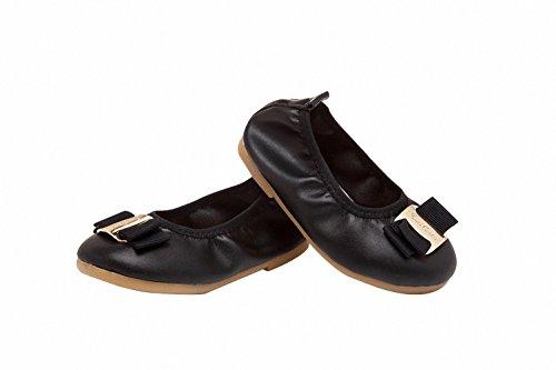 Bomkin Zapatos del niño suavemente único para el bebé y princesa antideslizantes Zapatos de cada vestido de fiesta negro