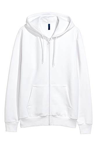 H&M Large White Zip-Up Hoodie from H&M