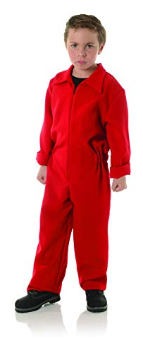 Underwraps Big Boy's Children's Horror Jumpsuit Costume - Boiler Suit Childrens Costume, Red, Medium (Jump Suit Kids)