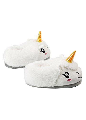 de Zapatos blanco Unicornio DarkCom dibujos 1 Adulto felpa Unisex lindo animados de Cuello casa en par Zapatillas xfYwqBOf