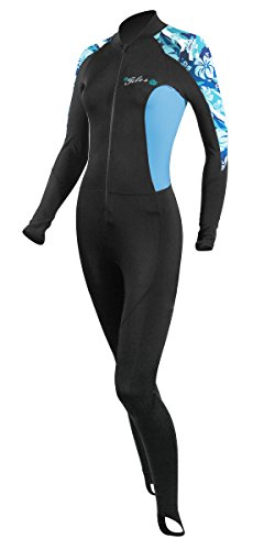 Tilos Women's 6oz Skin Suit (Blue Flower, Medium)