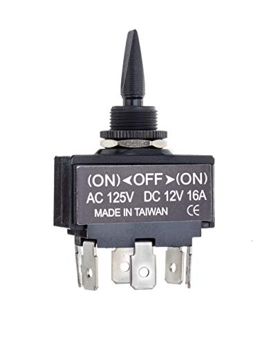 Seachoice 12031 3-Position Toggle Switch Momentary On/Off/Momentary On ()
