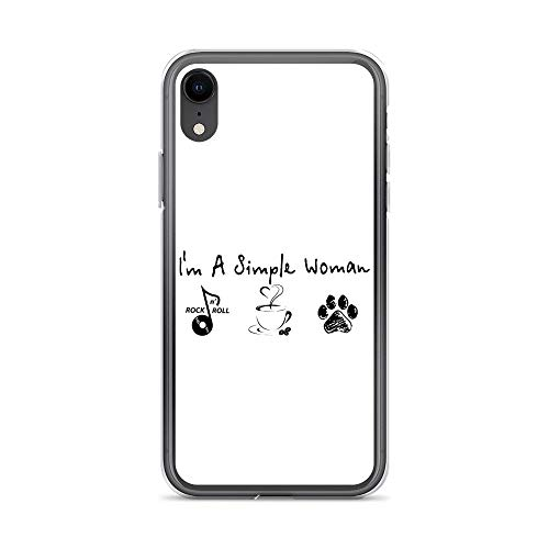 iPhone XR Pure Anti Shock Clear Case I'm A Simple Woman Rock and - Duvet Covers Rouge