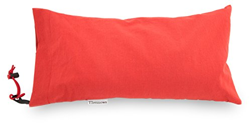 T2pillows Buckwheat Travel Pillow 100% Organic Cotton (10 x 16) All Natural Hulls with Removable Washable Designer Cover