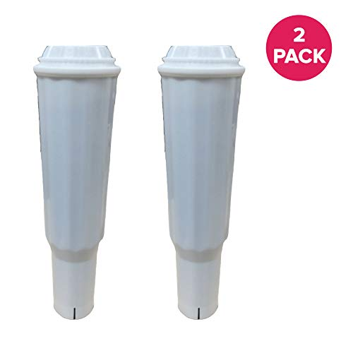 (Think Crucial Replacement for Jura Clearyl White Water Filter Fits Coffee Machines Z5, Z6, E8, E9, J5, F60, Compatible With Part # 64553 (2 Pack))