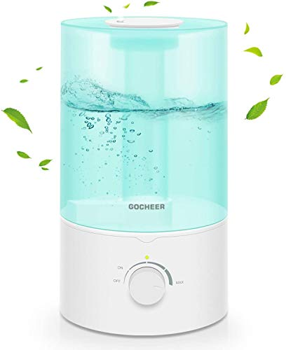 Humidifiers for Bedroom, Gocheer 3.5L Cool Mist Humidifier for Baby Room Home Ultrasonic Air Humidifier Essential Oil Diffuser Filter Free with Whisper Quiet Operation Adjustable Mist Output